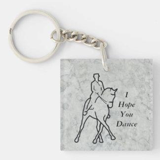 Dressage Horse & Rider - Half Pass Keychain