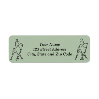 Dressage Horse & Rider - Half Pass Label