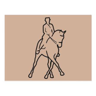 Dressage Horse & Rider - Half Pass Postcard