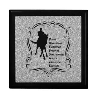 Dressage Horse Rider Meaning Jewelry Box