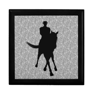 Dressage Horse Rider Silhouette Jewelry Box