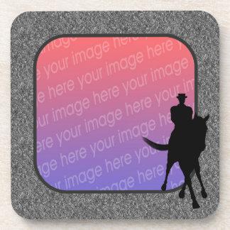 Dressage Horse Rider Your Photo Coaster Set