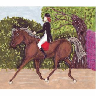 Dressage Horse Riding Sculpture Brooch Pin Photo Sculpture