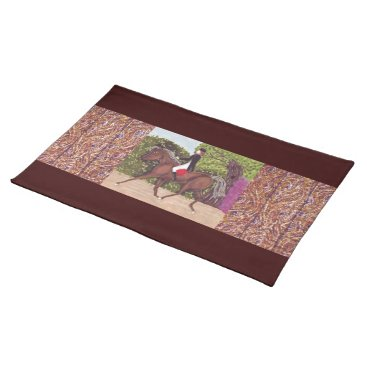 fabricatedframes Dressage Horse Riding With Wood Planks On Sides Po Cloth Placemat