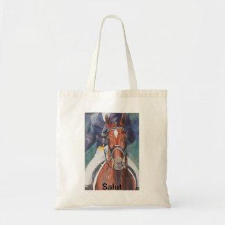 Dressage Horse Salute Tote Bag