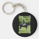 Dressage Horse Show Keychain