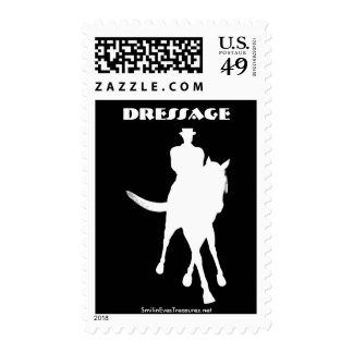 Dressage Horse Sihouette Postage Stamp
