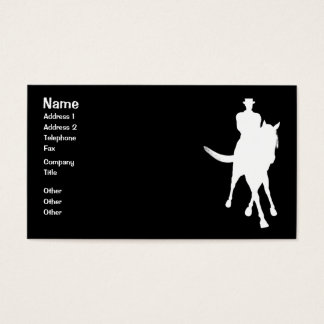 Dressage Horse Silhouette Black Business Card