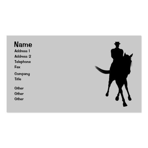 Dressage Horse Silhouette Business Card