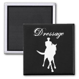 Dressage Horse Silhouette Magnet