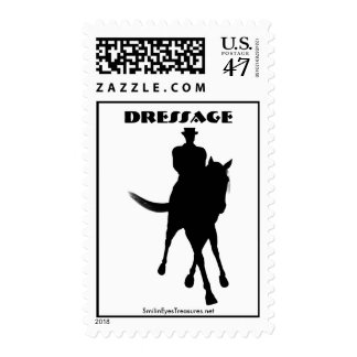 Dressage Horse Silhouette Postage Stamp