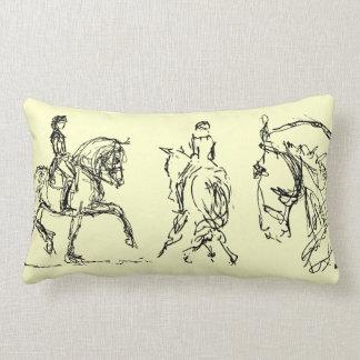 Dressage Horse Small Pillow