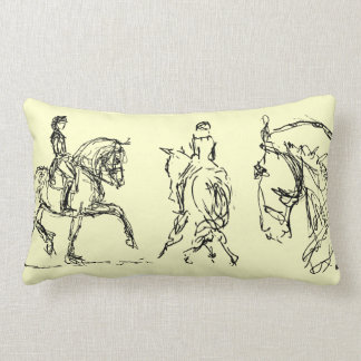Dressage Horse Small Pillow