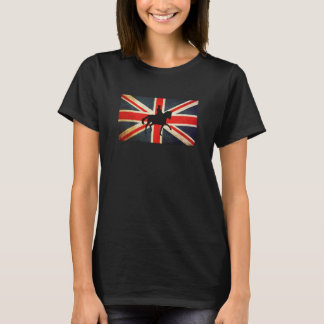 Dressage Horse with Union Jack Flag Shirt