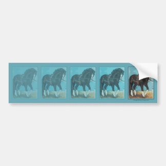 Dressage Horse Working on Lunge Line Equine Art Bumper Sticker