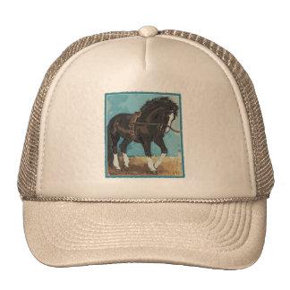 Dressage Horse Working on Lunge Line Equine Art Trucker Hat