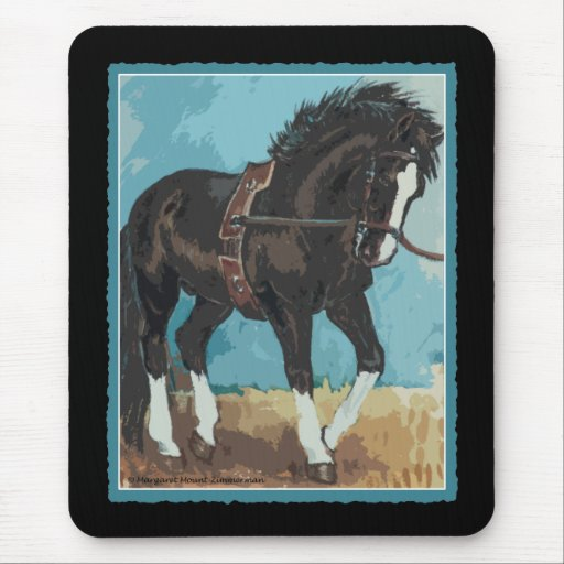 Dressage Horse Working on Lunge Line Equine Art Mouse Pad