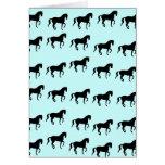 Dressage Horses Piaffe Pattern Card