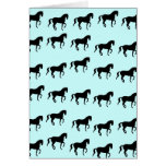 Dressage Horses Piaffe Pattern Greeting Card
