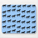 Dressage Horses Piaffe Pattern Mouse Pad