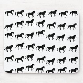 Dressage Horses Piaffe Pattern Mouse Pad