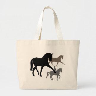 Dressage Horses Trio Tote Bags