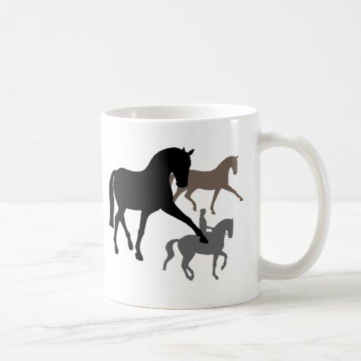 Dressage Horses Trio Coffee Mug
