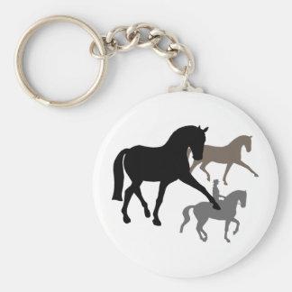Dressage Horses Trio Keychain