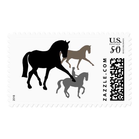 Dressage Horses Trio Postage
