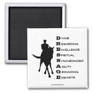 Dressage Is Horse Silhouette Magnet