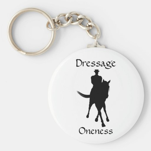 Dressage Is Oneness Horse Keychain