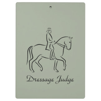Dressage judge design clipboards