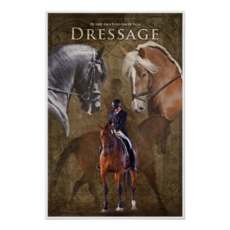 Dressage Listen into the Horse Poster