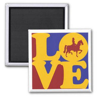 Dressage Love 2 Inch Square Magnet