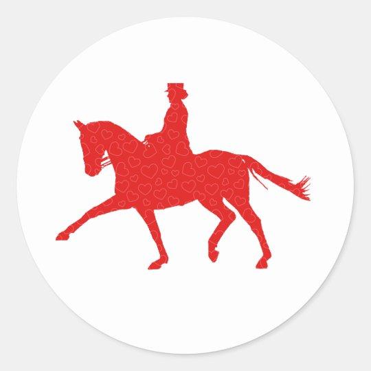 Dressage Lover Classic Round Sticker