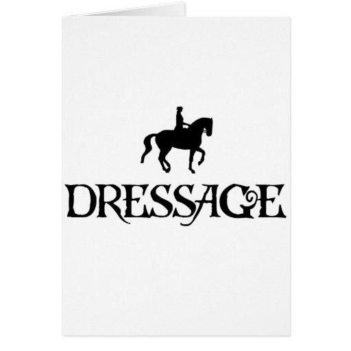 Dressage (Pirate Style Text w/ Piaffe)) Greeting Cards