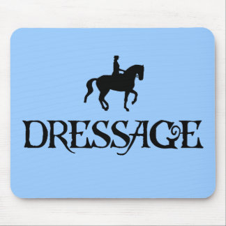 Dressage (Pirate Style Text w/ Piaffe)) Mouse Pad