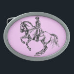 """Dressage Pirouette Equestrian Belt Buckle<br><div class=""""desc"""">Show off a little color with your belt buckle! Western belt buckle with a little extra flash and style...  why be normal when you can have a horse buckle as unique and original as this?</div>"""