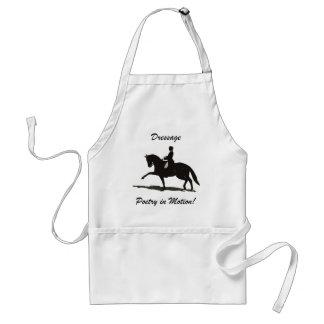 Dressage - poesía en caballo del movimiento delantal