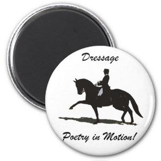 Dressage - poesía en caballo del movimiento imán redondo 5 cm