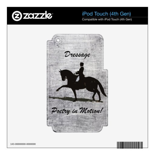 Dressage - Poetry in Motion Horse iPod Touch 4G Decals