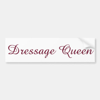 Dressage Queen Bumper Sticker