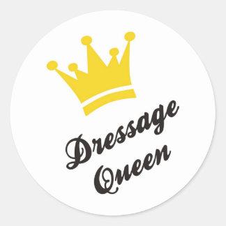 Dressage Queen Classic Round Sticker