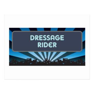 Dressage Rider Marquee Post Card