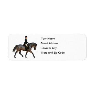 Dressage Rider on Bay Horse Return Address Label