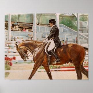 Dressage Rider Poster