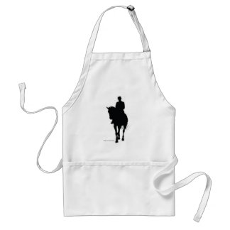 Dressage Rider Silhouette Adult Apron