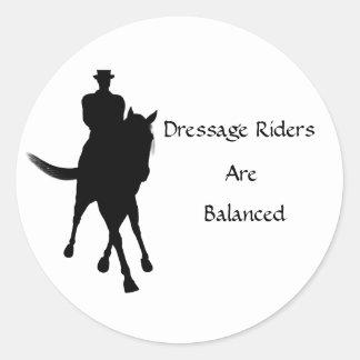 Dressage Riders Are Balanced Horse Sticker
