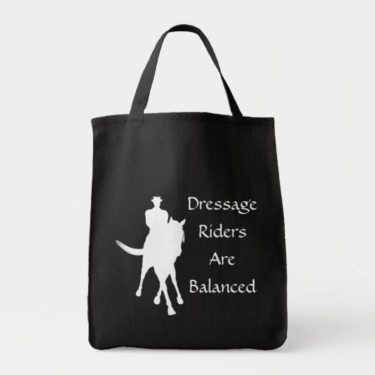 Dressage Riders Are Balanced Tote Bag