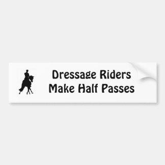 Dressage Riders Half Pass Bumper Sticker Car Bumper Sticker
